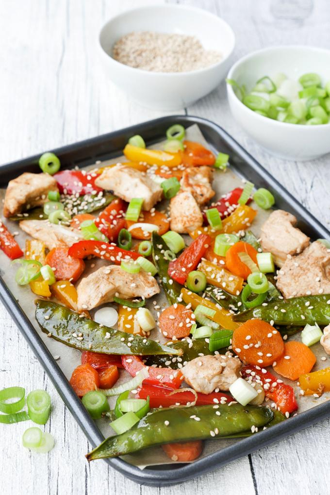 Sheet Pan Hähnchen-Gemüse - ein schnelles Familienrezept