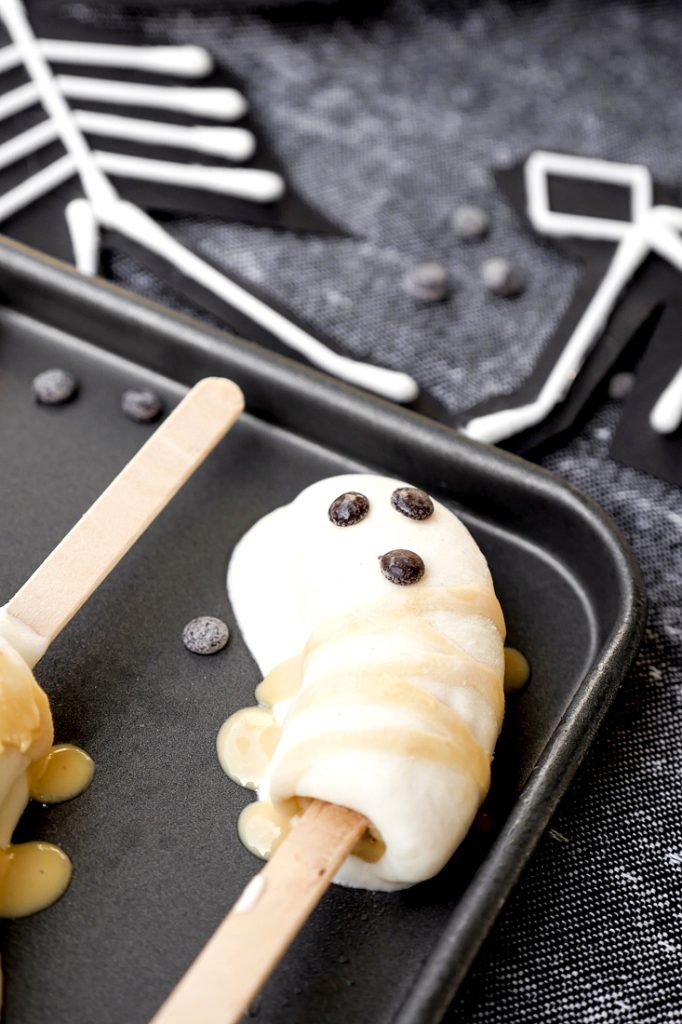 Schaurige Bananen-Gespenster für die Halloween-Party