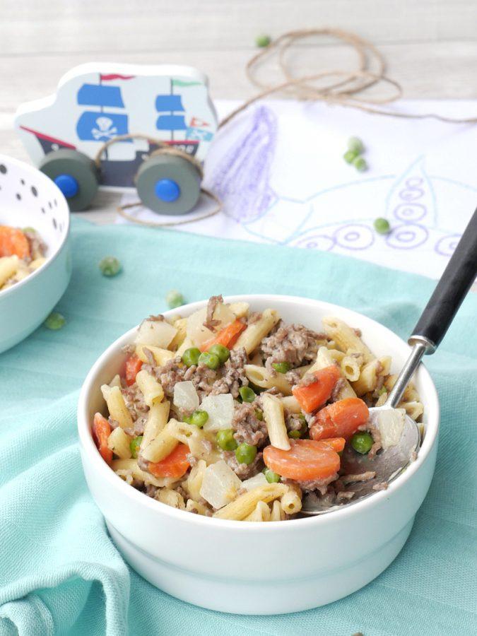 Ein schnelles Feierabendrezept für Kinder, das auch Erwachsenen richtig gut schmeckt - One Pot Pasta Wikinger mit Kohlrabi