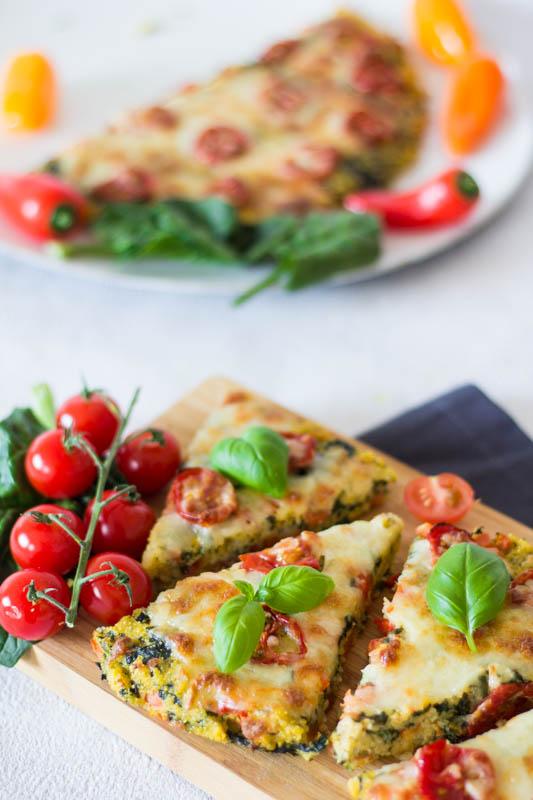 Polenta Pizza Mit Tomaten Und Spinat Ein Schnelles Rezept Für Kinder