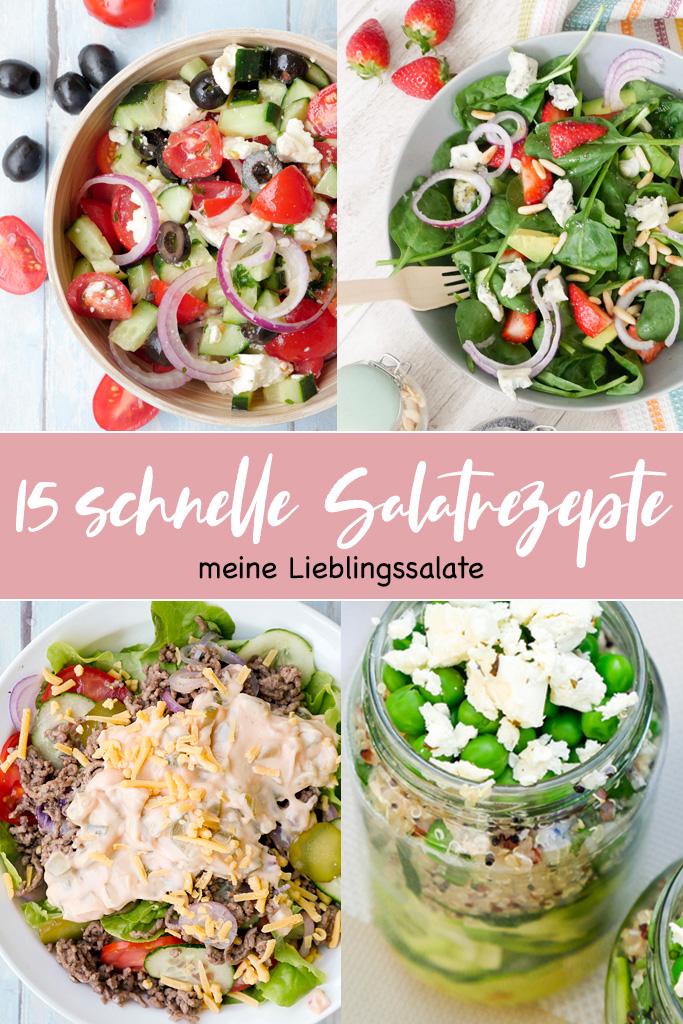 10 schnelle Salatrezepte - meine Lieblingssalate für die ganze Familie vom knackig-frischen Bauernsalat bis hin zum Nudelsalat, der Kindern schmeckt und köstlichen Low Carb Salaten