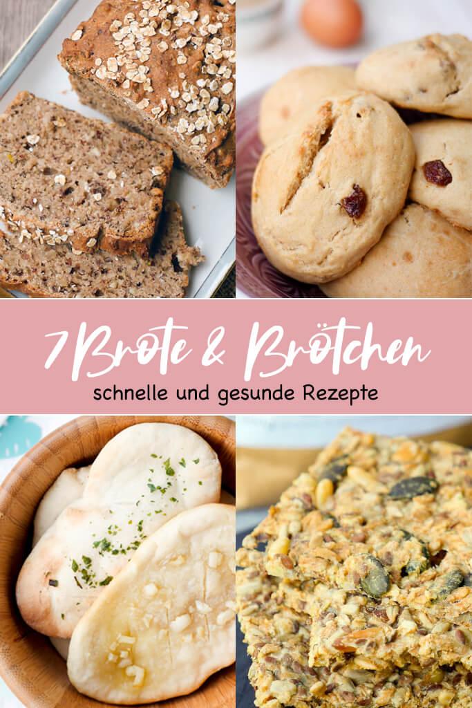 7 schnelle Brötchen & Brot Rezepte für das gesunde Frühstück, die Kindergarten Brotdose oder als Snack für zwischendurch