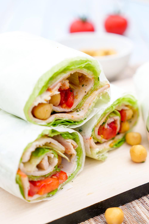 Low Carb Salatwraps - gesundes Fingerfood fürs Büro, das schnelle Low Carb Abendessen oder den Picknickkorb