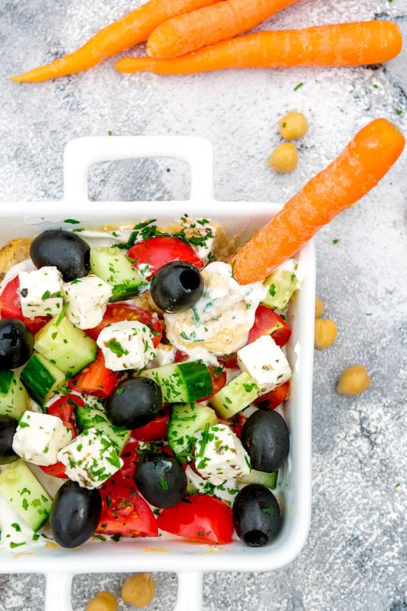 Hummus Dip – Griechischer Schicht-Dip