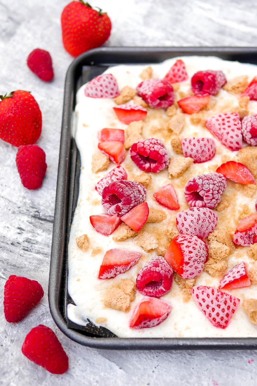 Gesundes Frozen Joghurt Eis - das gesunde Eis für heiße Sommertage mit nur 3 Zutaten