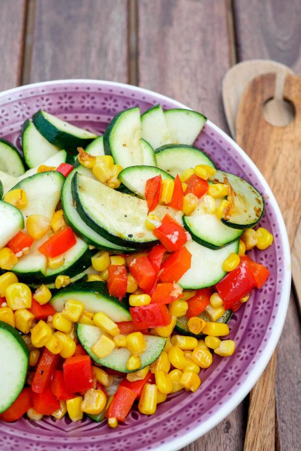 Angebratenes Gemüse als Füllung für meine Quesadillas