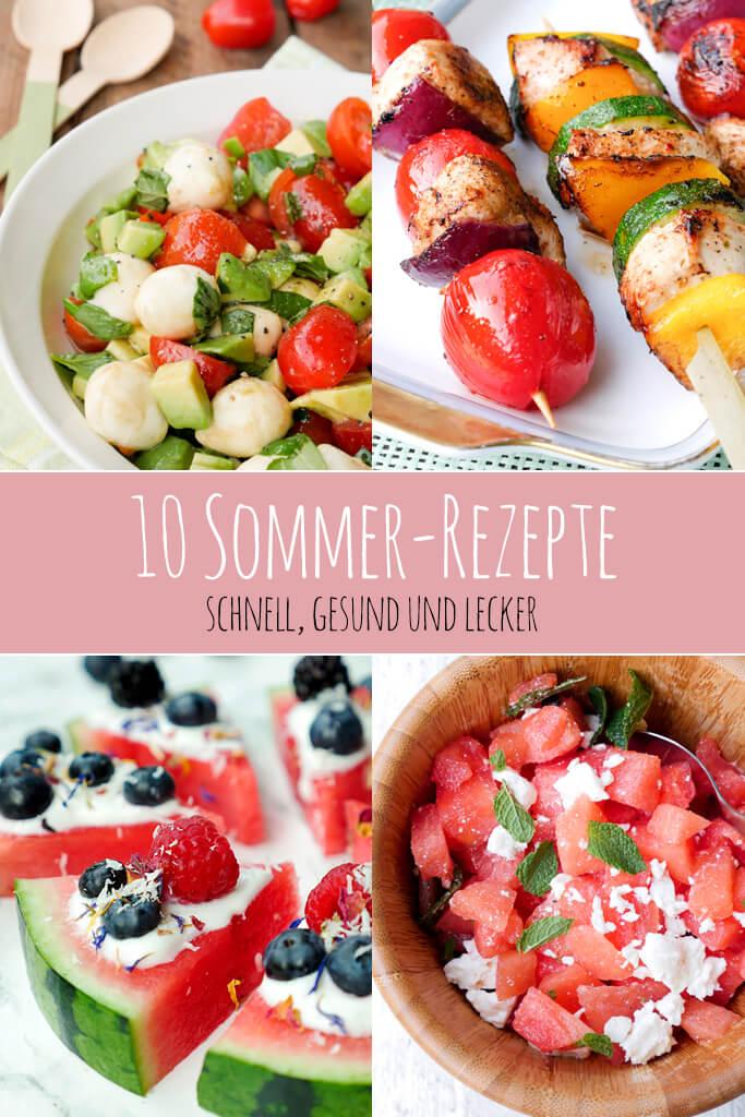 Meine 10 liebsten schnellen Sommer-Rezepte für heiße Tage - von einfachen Grillspießen bis hin zur erfrischenden Wassermelonen-Pizza - Gaumenfreundin Foodblog