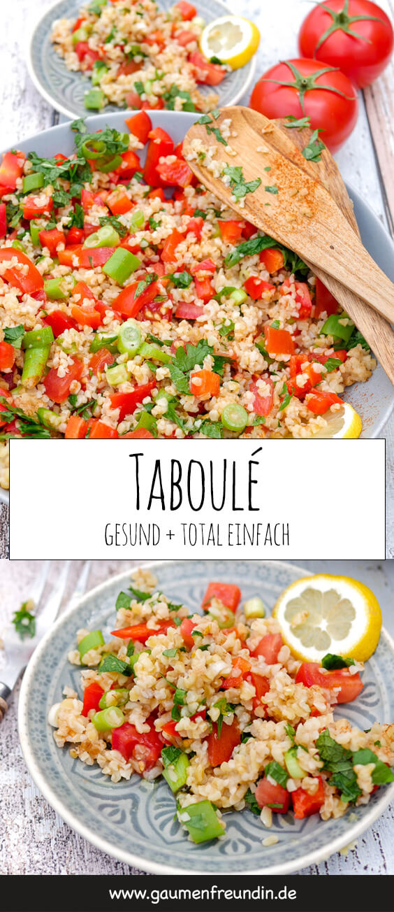 Taboulé - ein schnelles und einfaches Sommer-Rezept - schmeckt toll als Grill-Beilage, leichtes Hauptgericht oder als gesunder Snack für zwischendurch