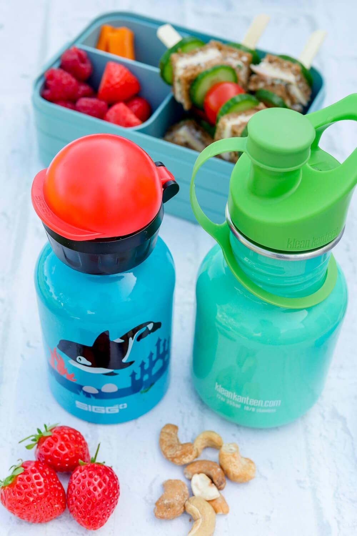 Werbung. Trinkflaschen für den Kindergarten aus dem REWE Online-Shop