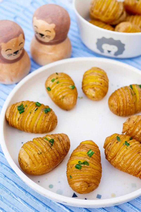 Fächerkartoffeln aus dem Ofen - ein einfaches und knuspriges Rezept
