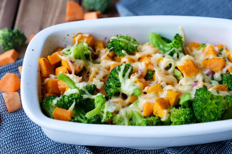 Brokoliauflauf mit Süßkartoffeln