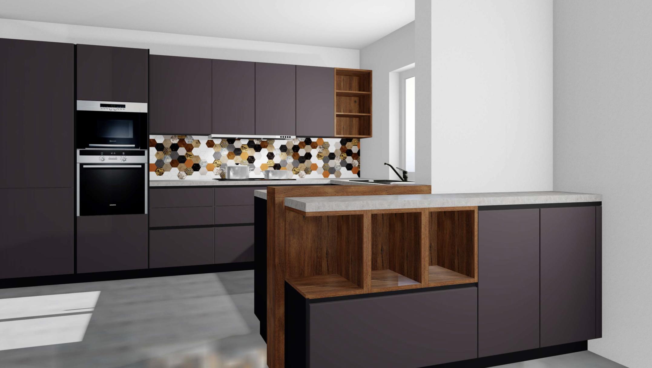 Meine neue Traumküche von Alno in anthrazit - dunkle Küche mit