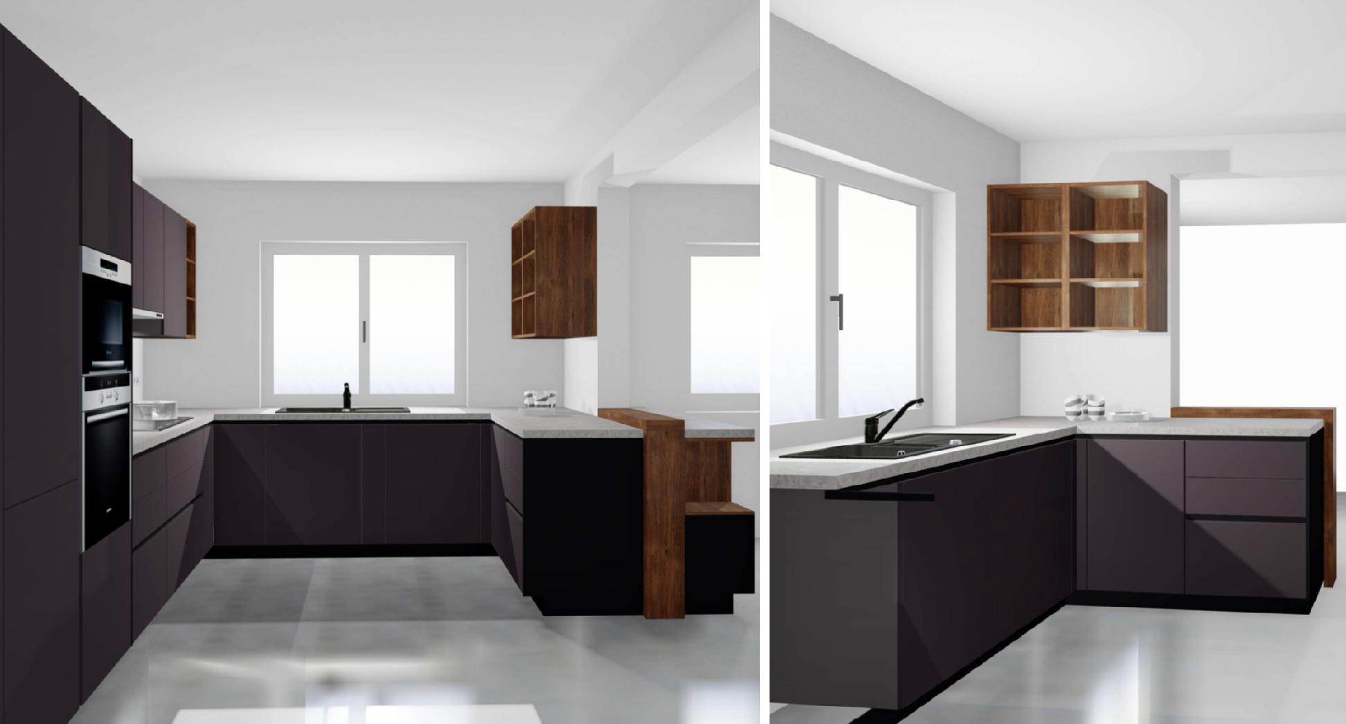 Unser erster Entwurf bei der Küchenplanung von Alno