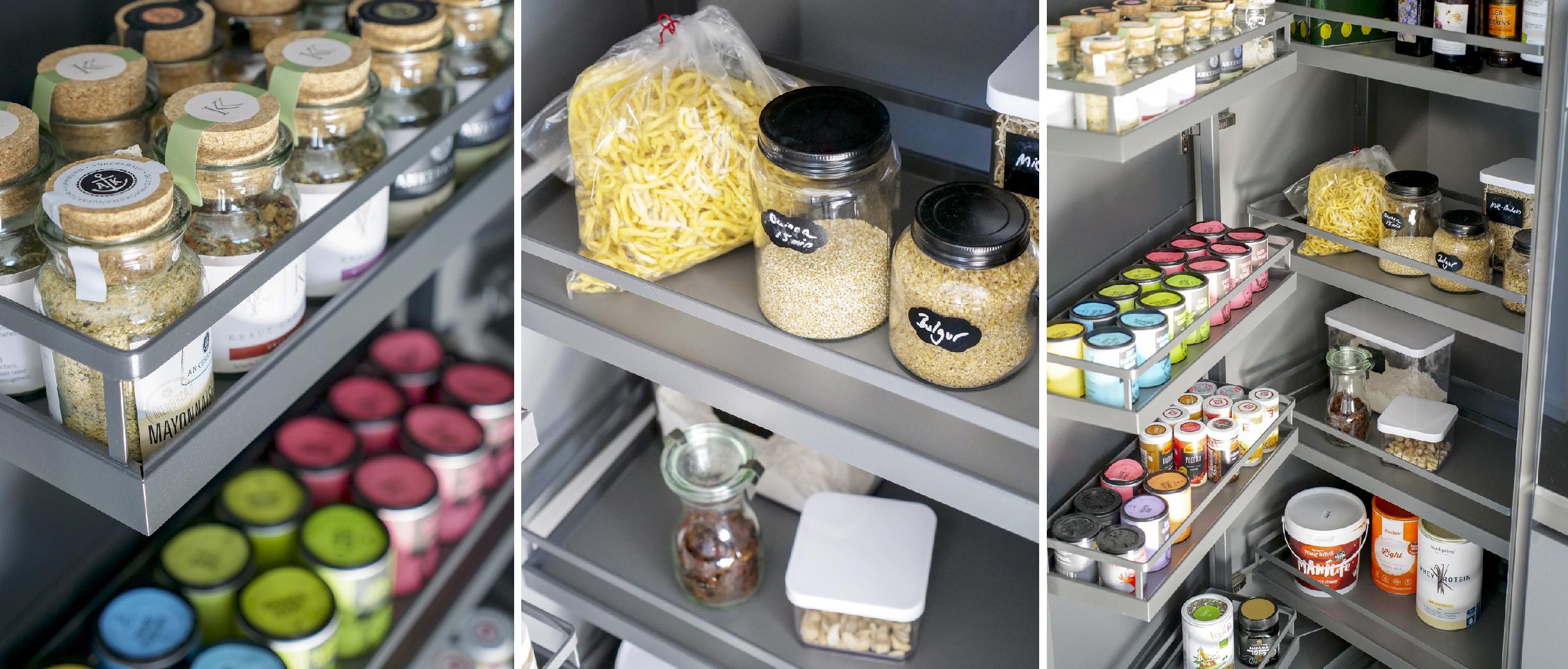 Alno Vorratsschrank mit jeder Menge Platz für alle Lebensmittel und Gewürze