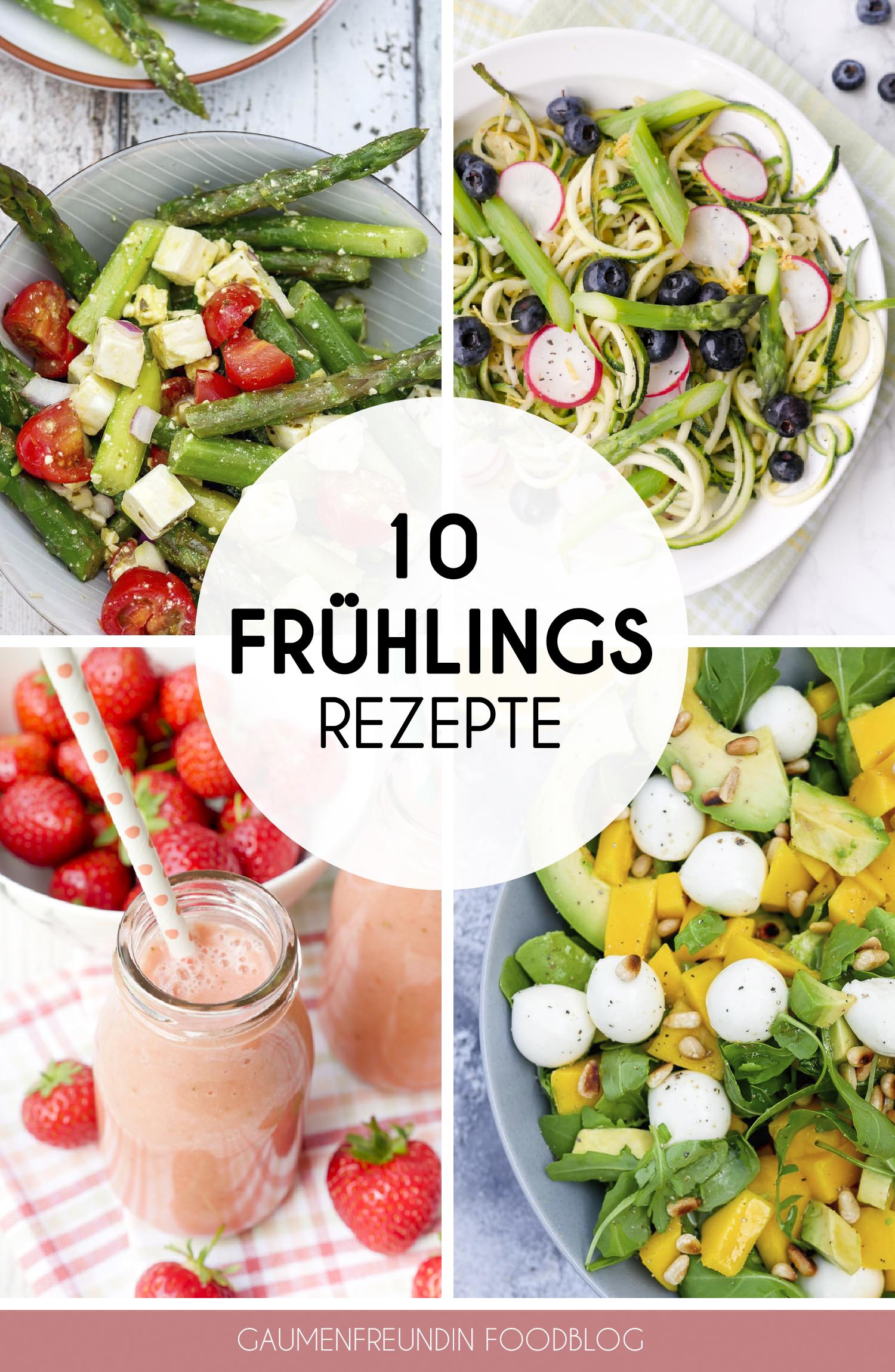 Fit in den Frühling mit meinen 10 schnellen und gesunden Rezepten - Köstliche Rezepte mit Spargel, Bärlauch und Erdbeeren