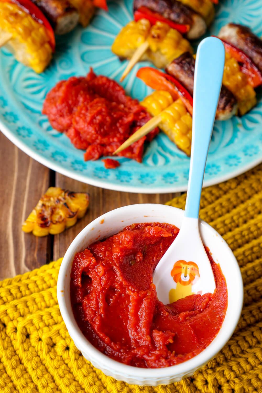 Fruchtiger Kinder-Ketchup ohne Zucker - ein schnelles und gesundes 10-Minuten-Rezept