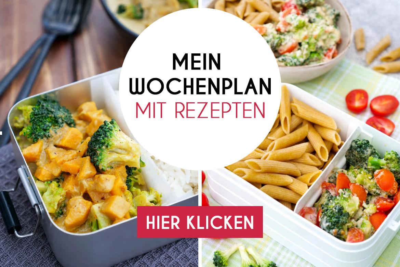 Gratis Meal Prep Wochenplan mit Rezepten + Einkaufsliste zum Ausdrucken