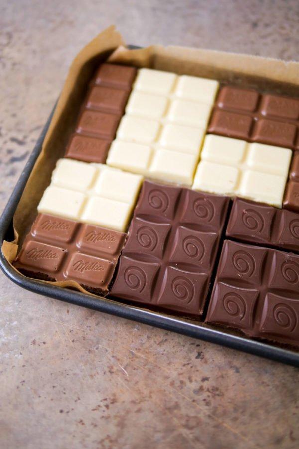 DIY Schokoladentafeln aus dem Backofen