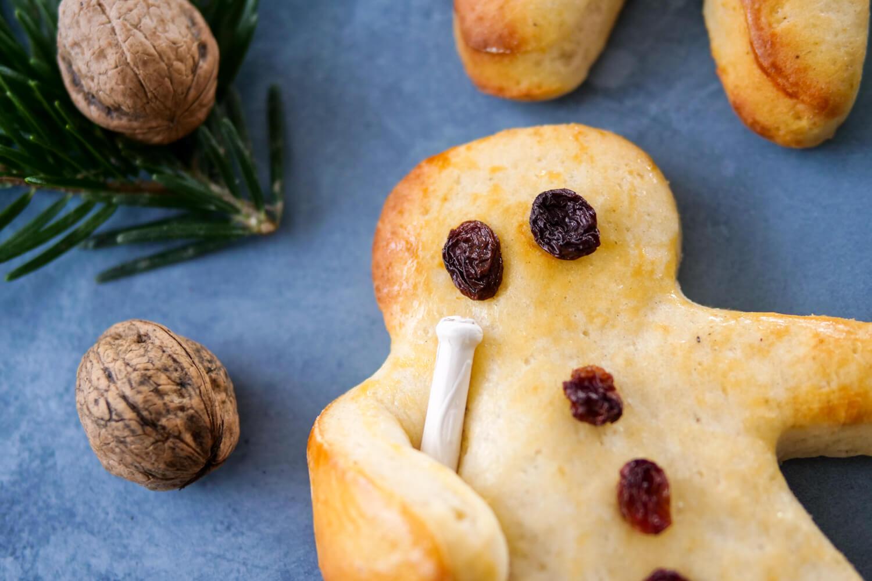 Süße Weckmänner zu St. Martin oder zur Weihnachtszeit - ein einfaches Rezept