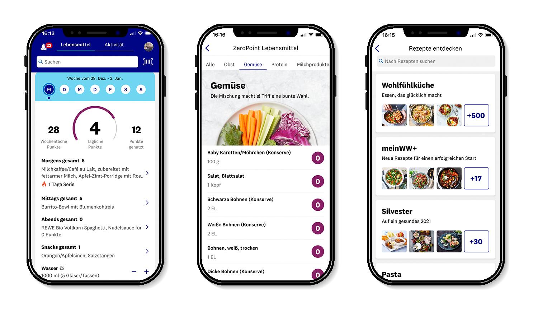 meinWW+ - die WW App bietet viele Möglichkeiten die Ernährung zu tracken