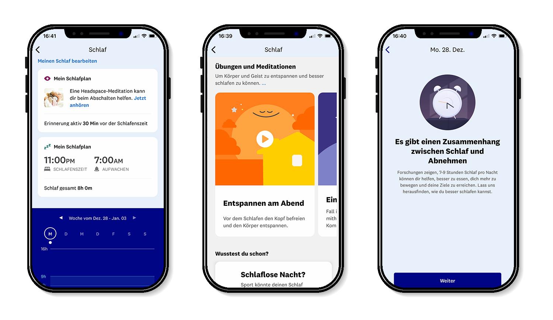 meinWW+ - die WW App bietet einen Schlaftracker und Meditationsübungen für besseren Schlaf