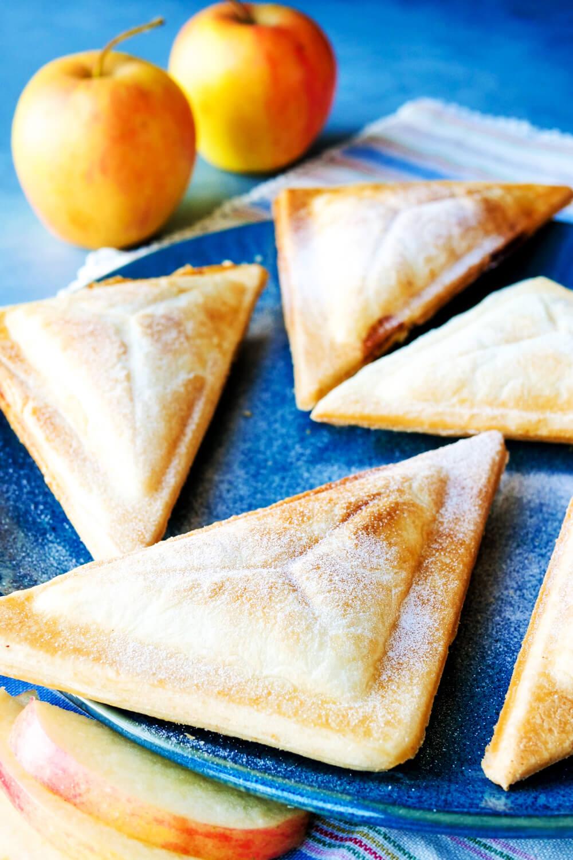 Apfeltaschen mit Blätterteig aus dem Sandwichmaker - nur 3 Zutaten und ein schneller Snack