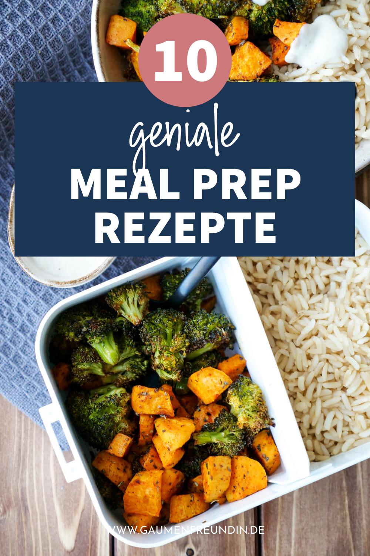 10 einfache Meal Prep Rezepte wie Süßkartoffeln mit Brokkoli in der Meal Prep Box