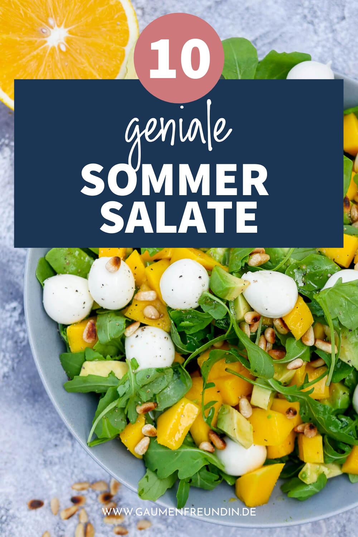10 schnelle und gesunde Sommersalate, wie der Rucolasalat mit Mango