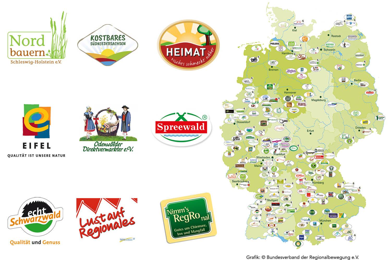 Deutschlandkarte Regionalinitiativen