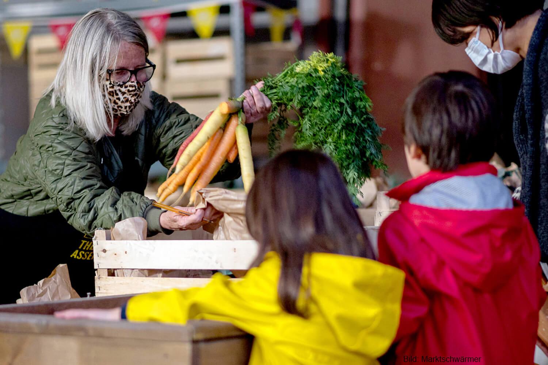 Gemüsestand bei den Marktschwärmern