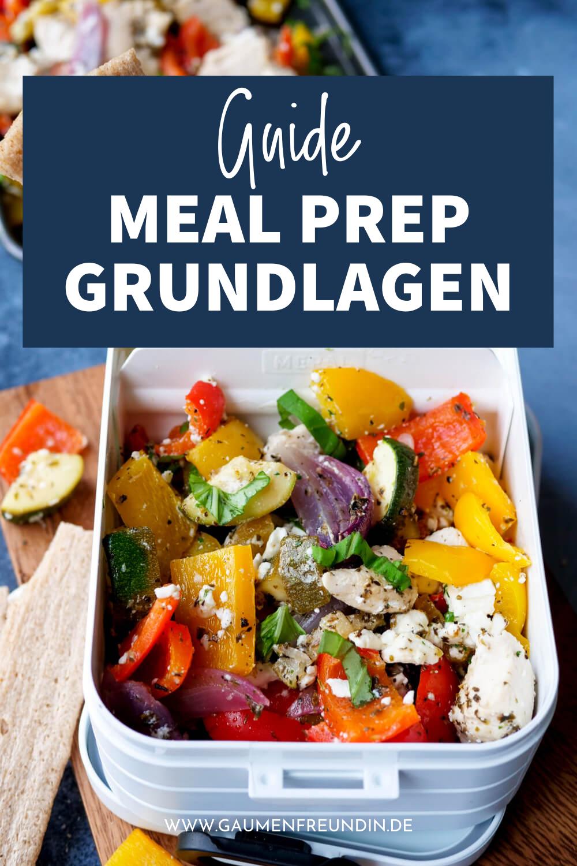 Guide für Meal Prep Grundlagen mit Rezepten