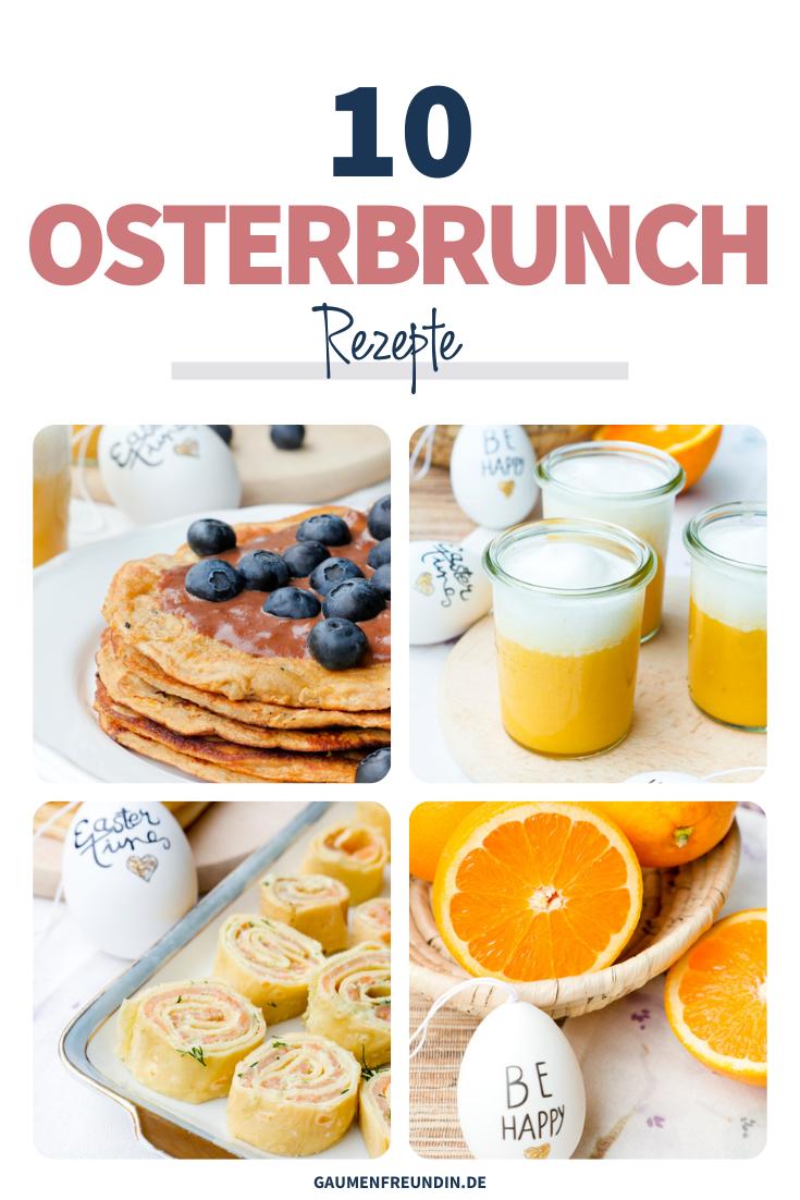 Osterbrunch Rezepte wie Low Carb Pfannkuchen, Orangen Smoothie und Lachsrollen
