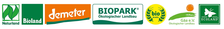 Bio-Siegel der größten Anbauverbände