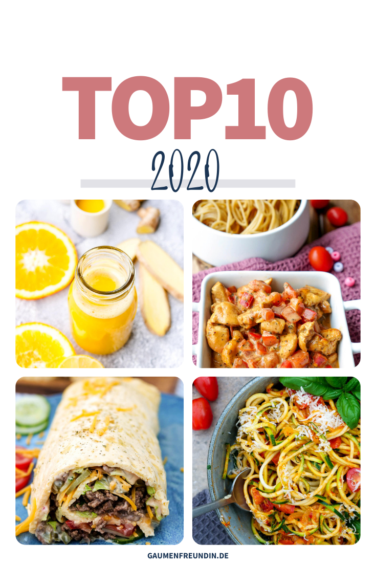 Die TOP10 2020 der beliebtesten Rezepte