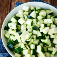 Gewürfelte Zucchini
