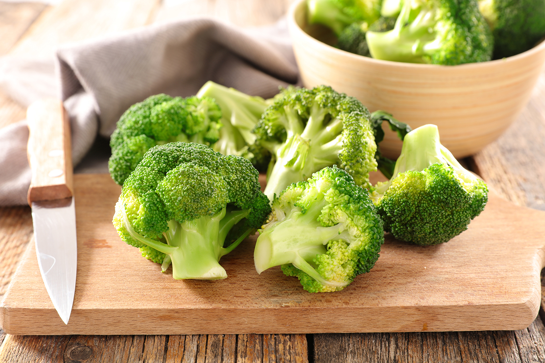 Frisch geschnittene Brokkoli-Röschen