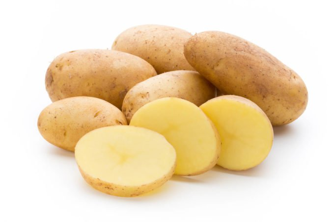 Geschnittene Kartoffeln