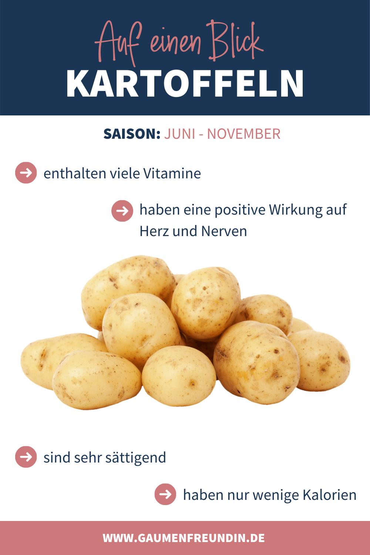 Infografik zur Kartoffel Saison und den positiven Eigenschaften von Kartoffeln
