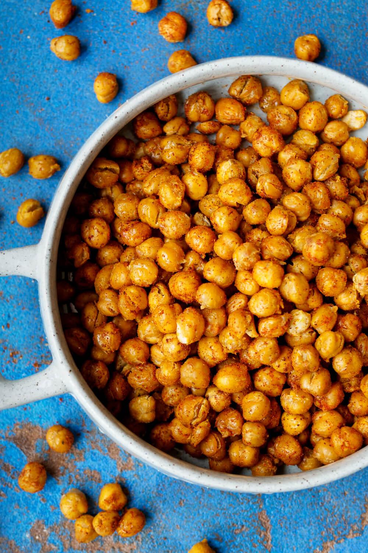 Kichererbsen im Ofen rösten mit Curry und Paprikagewürz
