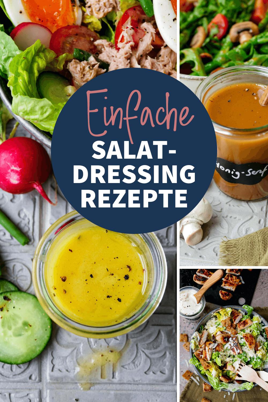 Einfache Salatdressing Rezepte wie das Honig-Senf-Dressing von Gaumenfreundin