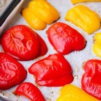 Paprika im Ofen backen