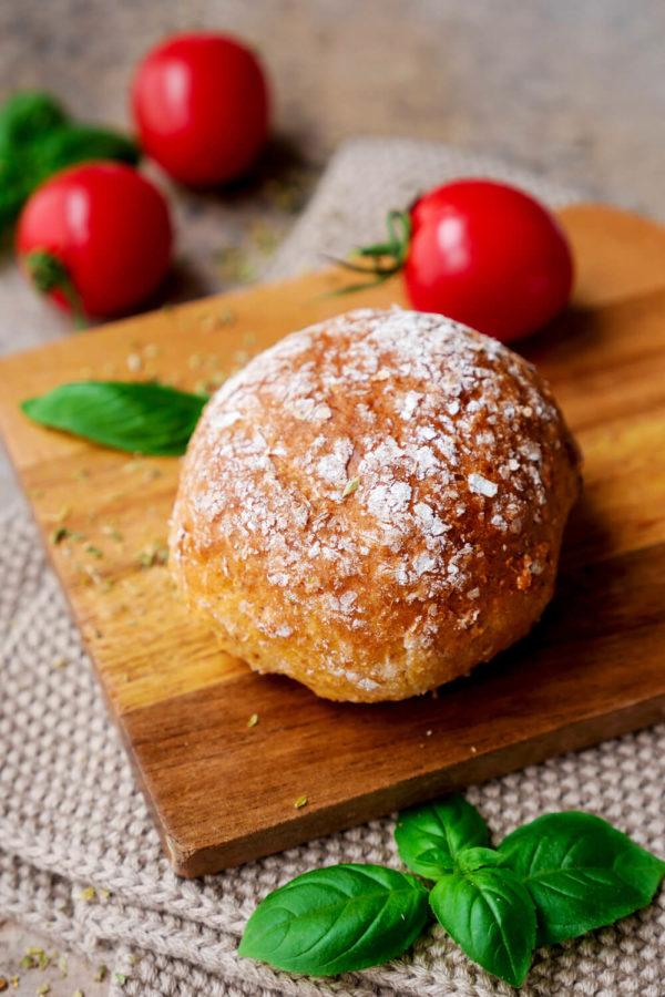 Pizzabrötchen Rezept mit Dinkelmehl und Magerquark