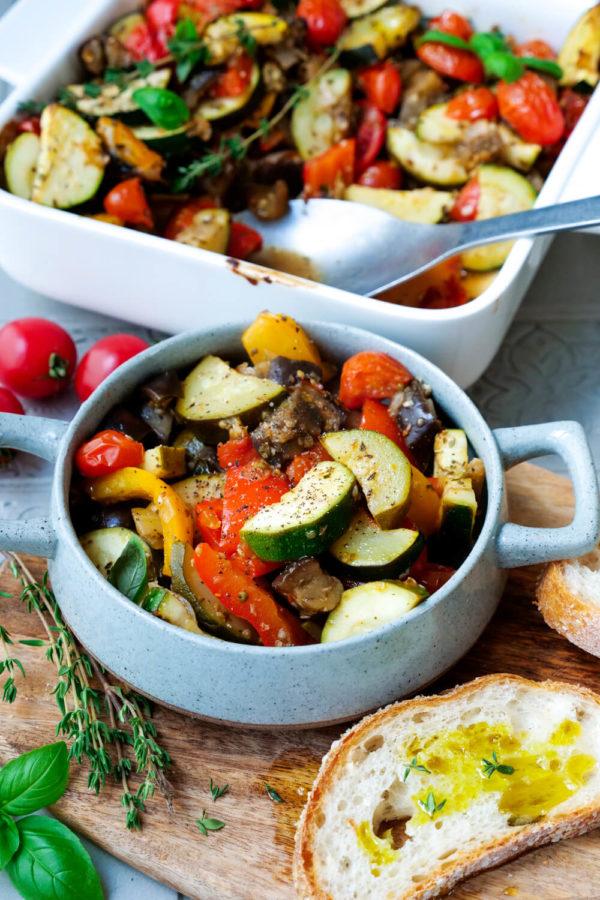 Ratatouille-Rezept aus dem Ofen zubereiten
