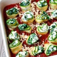 Zucchini-Cannelloni aus dem Backofen