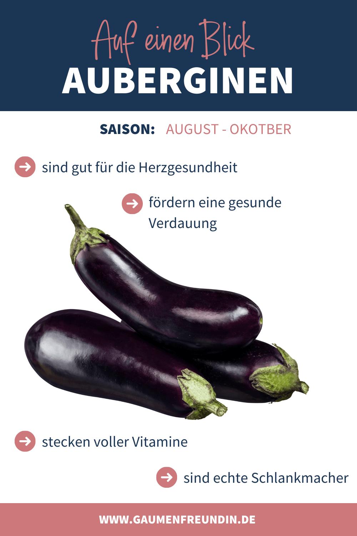 Auberginen Infografik von Gaumenfreundin