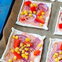 Blätterteig-Pizza Zubereitung