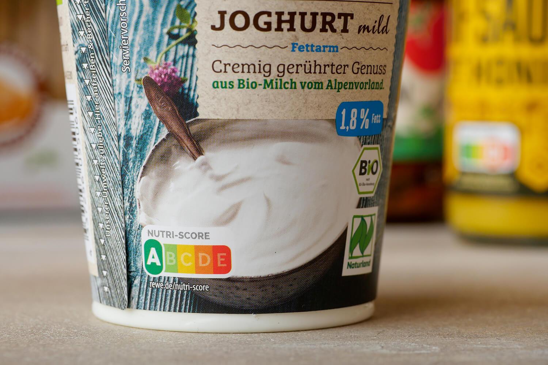 Nutri_Score auf Joghurtbecher