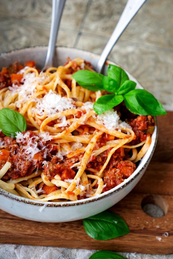 Bolognese ist ein leckeres Hauptgericht für die Familie