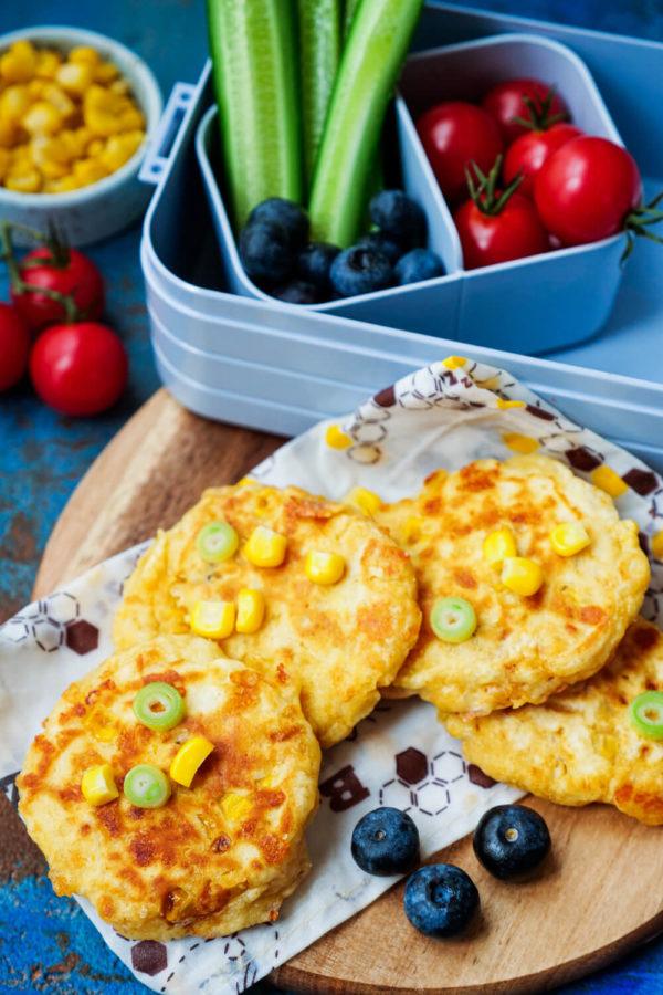 Käse-Mais-Puffer mit Käse für Kinder