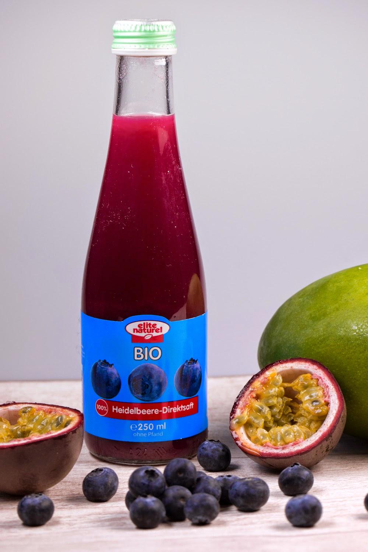 Granar.de - Heidelbeer-Passionsfrucht-Mango-Smoothie mit Heidelbeer-Direktsaft